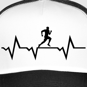 Running Man & Heartbeat Caps & Hats - Trucker Cap