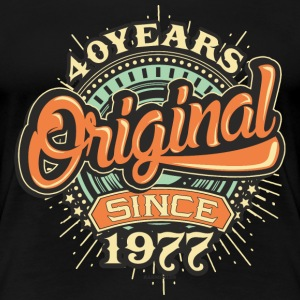 40 Years Original since 1977 - RAHMENLOS Birthday Shirt Design T-Shirts - Frauen Premium T-Shirt