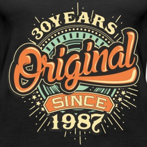 30 Years Original since 1987 - RAHMENLOS Birthday Shirt Design Tops - Frauen Premium Tank Top