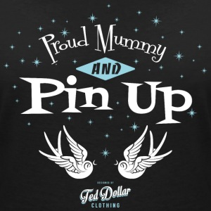 Proud Mummy and Pin Up Tee shirts - T-shirt col V Femme