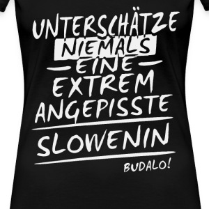 Angepisst - Slowenin Shirt Damen - Frauen Premium T-Shirt