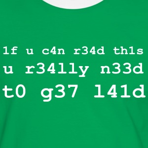 if u can read this u really need to get laid (wh) T-Shirts - Männer Kontrast-T-Shirt