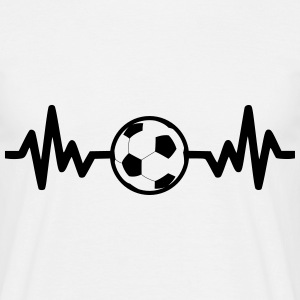 i love football , soccer t-shirt  - Men's T-Shirt