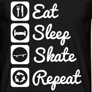 Eat,sleep,skate,repeat , skateboard t-shirt - Men's T-Shirt