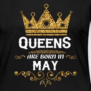 Queens are born in may Long Sleeve Shirts - Women's Premium Longsleeve Shirt