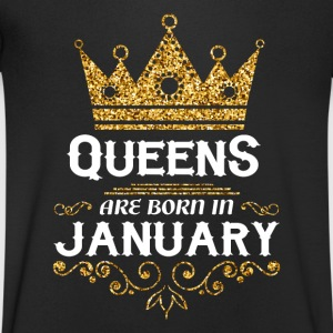 Queens are born in January T-Shirts - Men's V-Neck T-Shirt