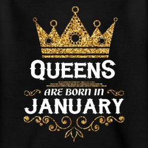 Queens er født i januar T-shirts - Teenager-T-shirt