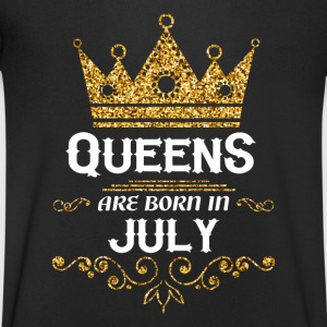 Queens are born in July T-Shirts - Men's V-Neck T-Shirt