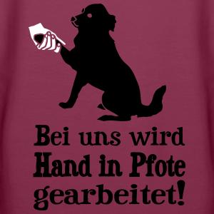 """Shirts mit Tier-Motiv """"Hund - Hand in Pfote"""""""