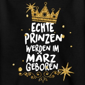 Real princes are born in March Shirts - Teenage T-shirt