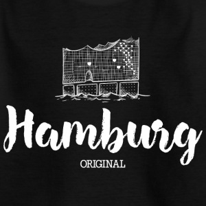 Hamborg Elphi hvid T-shirts - Teenager-T-shirt