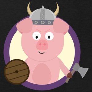 Viking-pig in purple circle Shirts - Kids' Organic T-shirt
