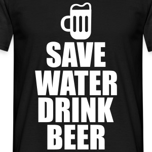 Save water drink Beer , birra  - Maglietta da uomo