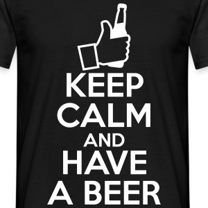 Keep calm and have a beer , birra  - Maglietta da uomo