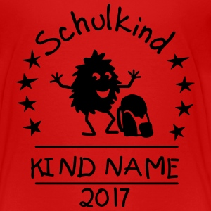 Schulkind Monstermotiv T-Shirts - Kinder Premium T-Shirt