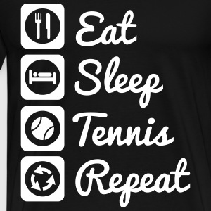 Eat,sleep,tennis,repeat,tennis t-shirt  - Männer Premium T-Shirt