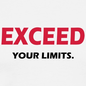 EXCEED YOUR LIMITS - SIMPLE - Männer Premium T-Shirt