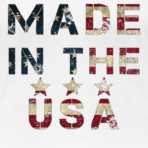 Made in USA grunge flag  T-Shirts - Frauen Premium T-Shirt