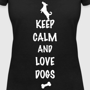 keep calm and love dogs T-Shirts - Frauen T-Shirt mit V-Ausschnitt
