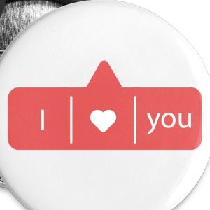 I LOVE YOU Badges - Badge petit 25 mm