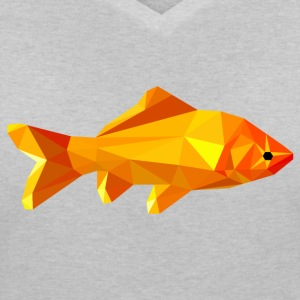 Goldfish polygon - Women's V-Neck T-Shirt