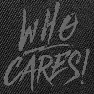 WHO CARES! Caps & Hats - Contrast Snapback Cap