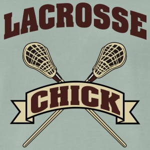 Lacrosse Girl Chick - Men's Premium T-Shirt