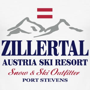 Zillertal - Austria Flag T-Shirts - Männer Slim Fit T-Shirt