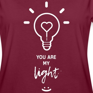 you are my light - Dame oversize T-shirt