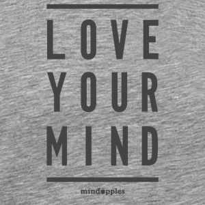 "Mindapples ""Love your mind"" merchandise - Men's Premium T-Shirt"