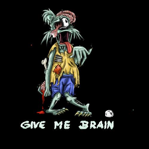 Zombie-Bär/Logo weiß