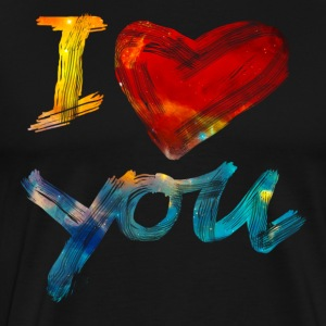 I LOVE YOU, Valentinsdag, kærlighed, romantisk T-shirts - Herre premium T-shirt