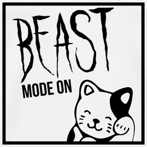 Beast Mode On - Cat / Black Version - Männer Premium T-Shirt