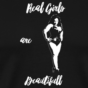 Real girls are beautiful (black) - T-shirt Premium Homme