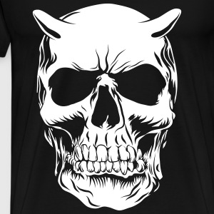 Big skull face - T-shirt Premium Homme