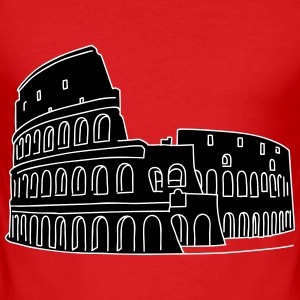 Colosseum in Rome 2 T-Shirts - Men's Slim Fit T-Shirt