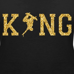 Skaterboarding King T-Shirts - Women's V-Neck T-Shirt