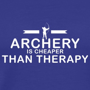 Archery is cheaper than therapy - Männer Premium T-Shirt