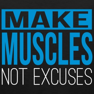 Make muscles not excuses Sportbekleidung - Männer Premium Tank Top