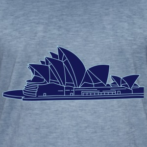 Opera House in Syndey 2 T-Shirts - Men's Vintage T-Shirt