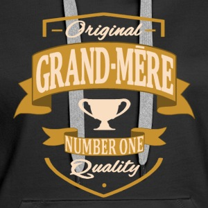 Grand-Mère Sweat-shirts - Sweat-shirt à capuche Premium pour femmes