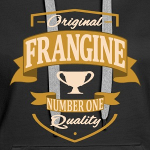 Frangine Sweat-shirts - Sweat-shirt à capuche Premium pour femmes