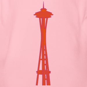 Space Needle in Seattle 2 Baby Bodysuits - Organic Short-sleeved Baby Bodysuit