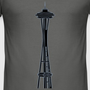 Space Needle en Seattle 2 Camisetas - Camiseta ajustada hombre