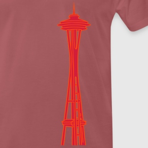Space Needle en Seattle 2 Camisetas - Camiseta premium hombre
