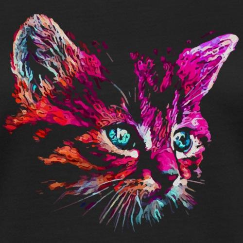 cat pink paint