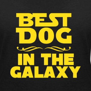 Best dog in the galaxy T-shirts - Dame-T-shirt med V-udskæring