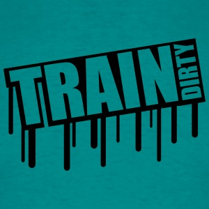 tropfen graffiti train dirty text logo sterne cool T-Shirts - Männer T-Shirt
