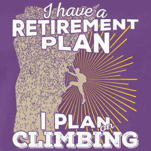 Retirement plan climbing (light) - Männer Premium T-Shirt