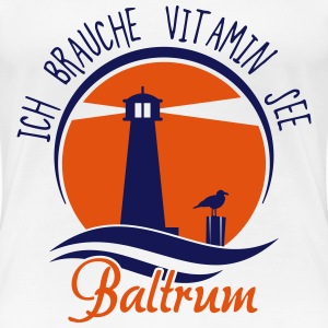 Vitamin See Baltrum T-Shirts - Frauen Premium T-Shirt